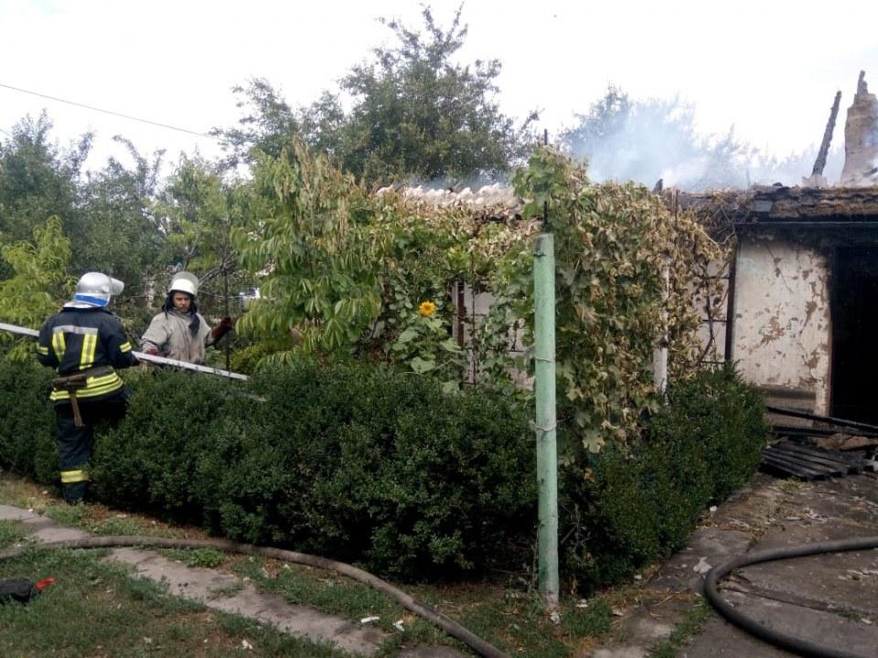 В Перещепино сгорел жилой дом