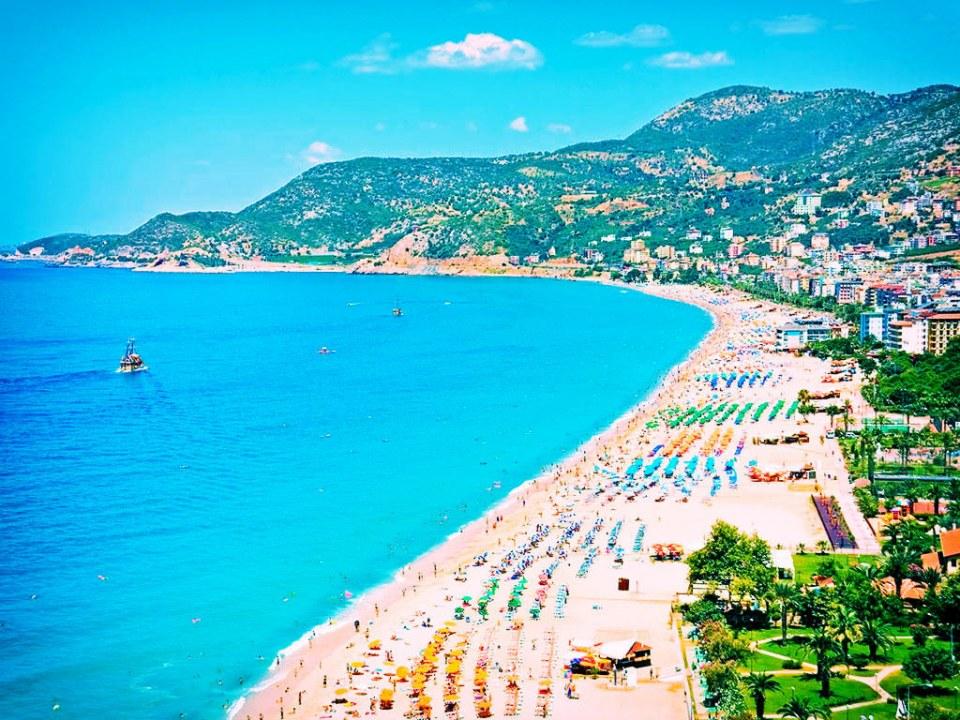 Курортный пляж