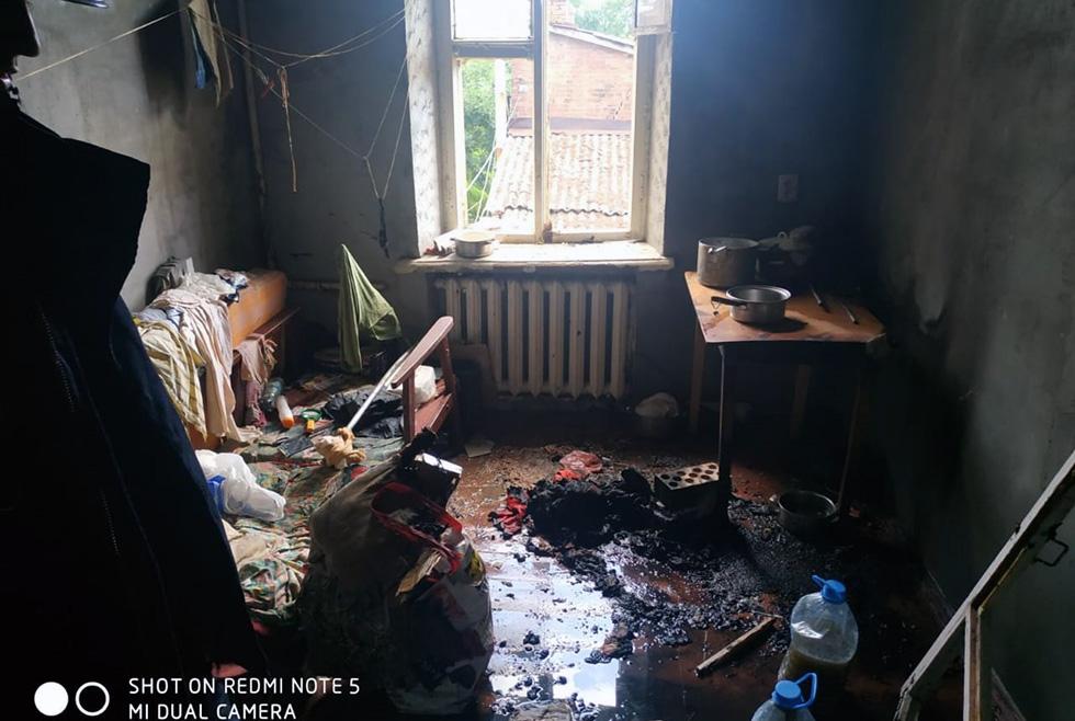 В Днепре на проспекте Пушкина горела квартира