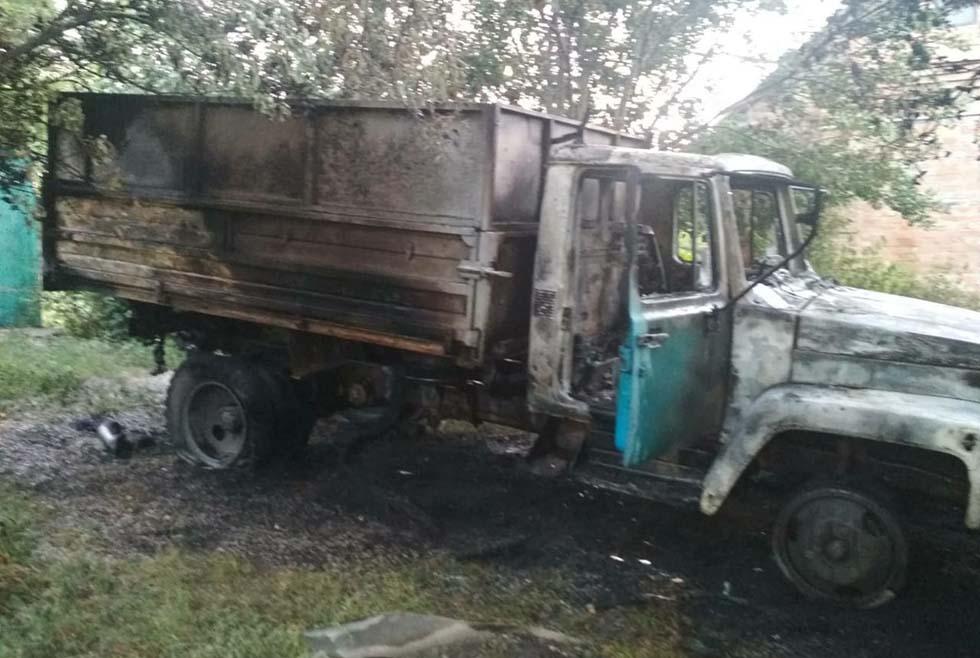 Водяное пожар грузовика