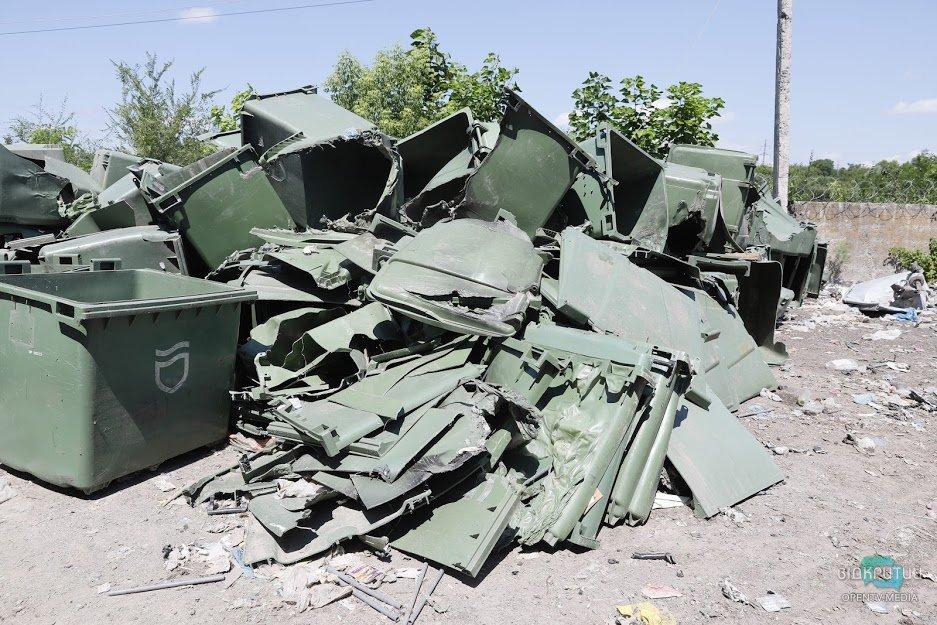 В Днепре изуродовали 3 тысячи новых мусорных баков (ФОТО)