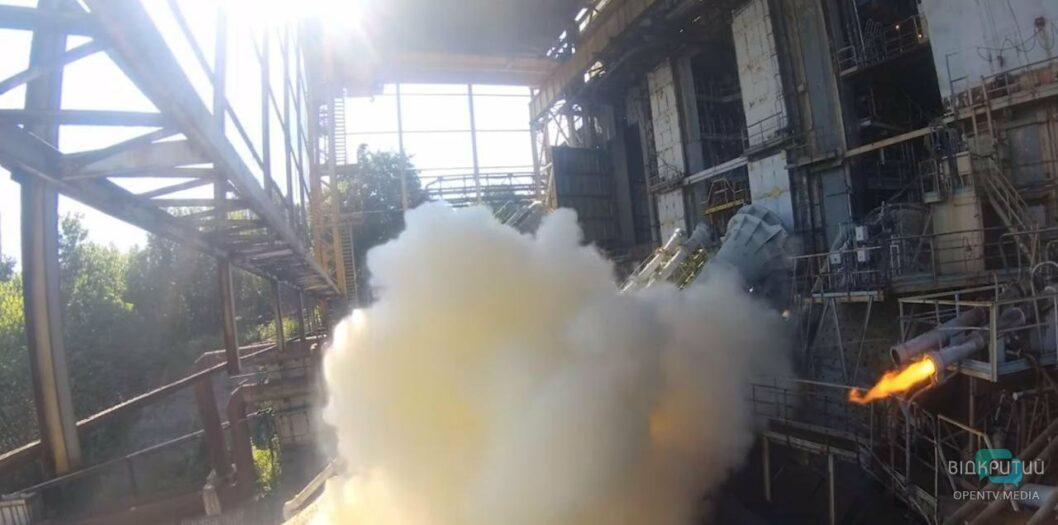 В Днепре провели испытания двигателя для ракеты Циклон-4М (ВИДЕО)