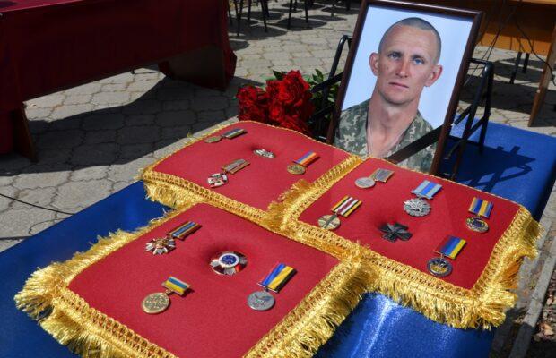 В Днепропетровской области попрощались с погибшим в АТО Ярославом Журавлем