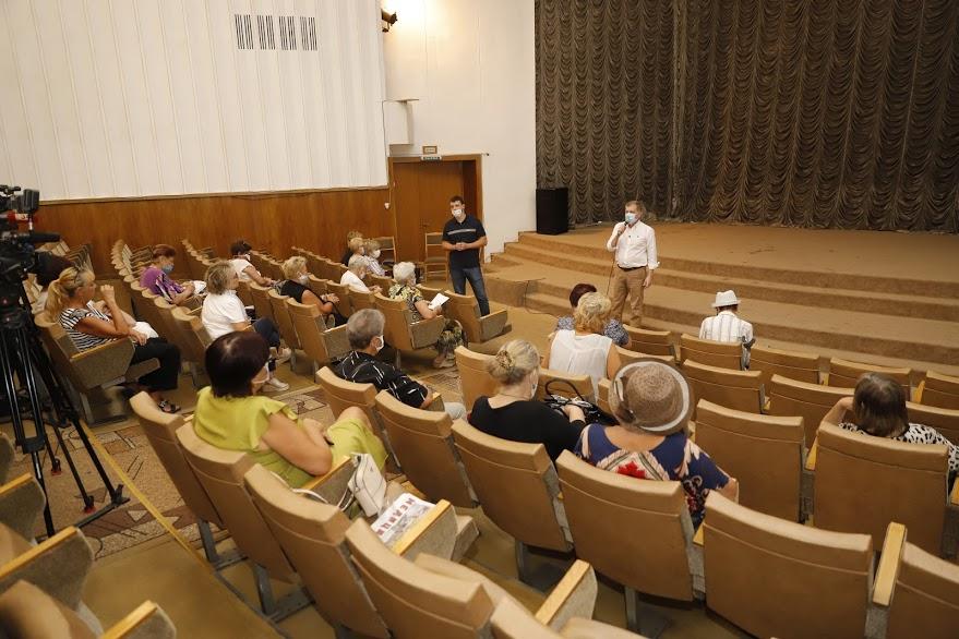 В Днепре слушатели Университета третьего возраста встретились с заместителем городского головы