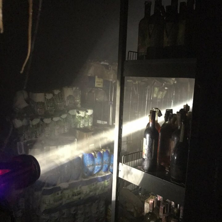 Пожар в супермаркете Варус Кривой Рог