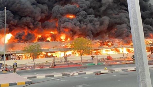 Пожар в Аджмане ОАЭ