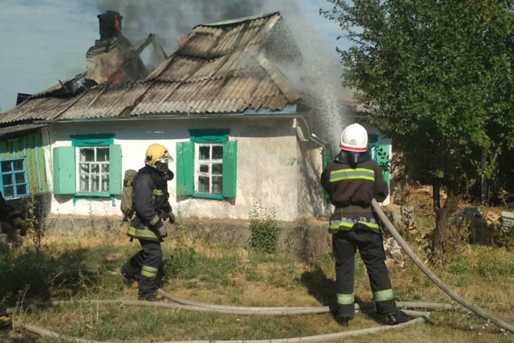Пожар в селе Оженковка