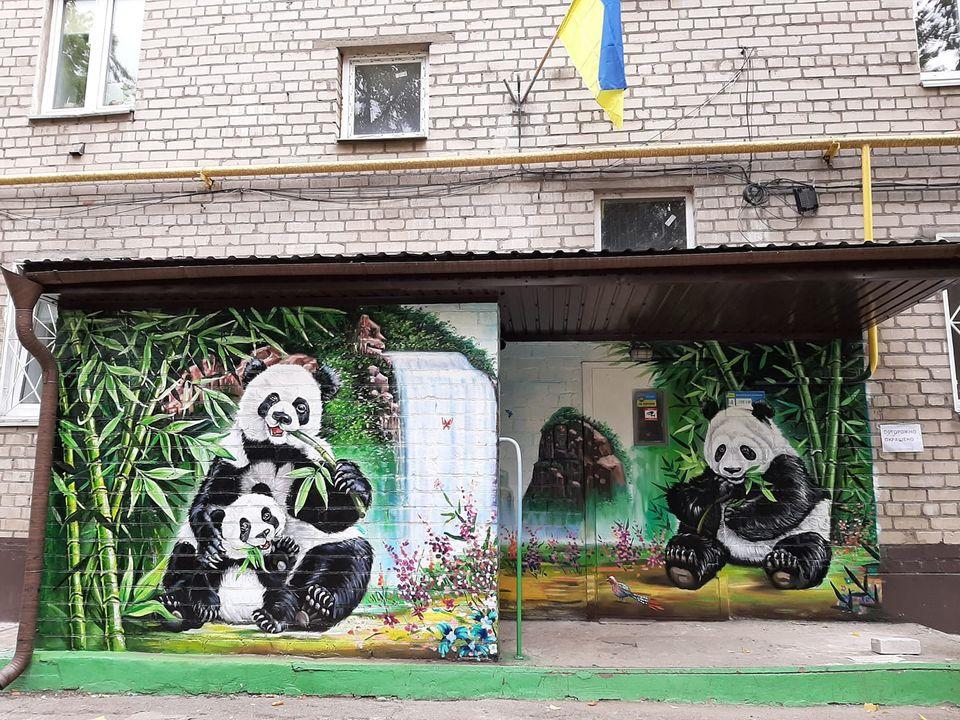 В днепровской многоэтажке поселилось семейство панд