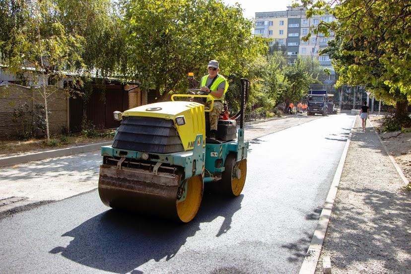 В Днепре заканчивают ремонтировать улицу Хабаровскую