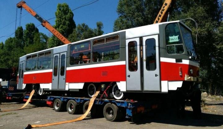 В Каменском на маршрут вышел еще один трамвай чешского производства