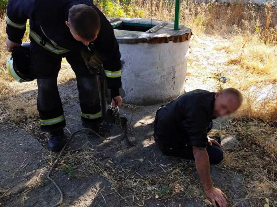 На Днепропетровщине мужчина провалился в собственный колодец: понадобилась помощь спасателей