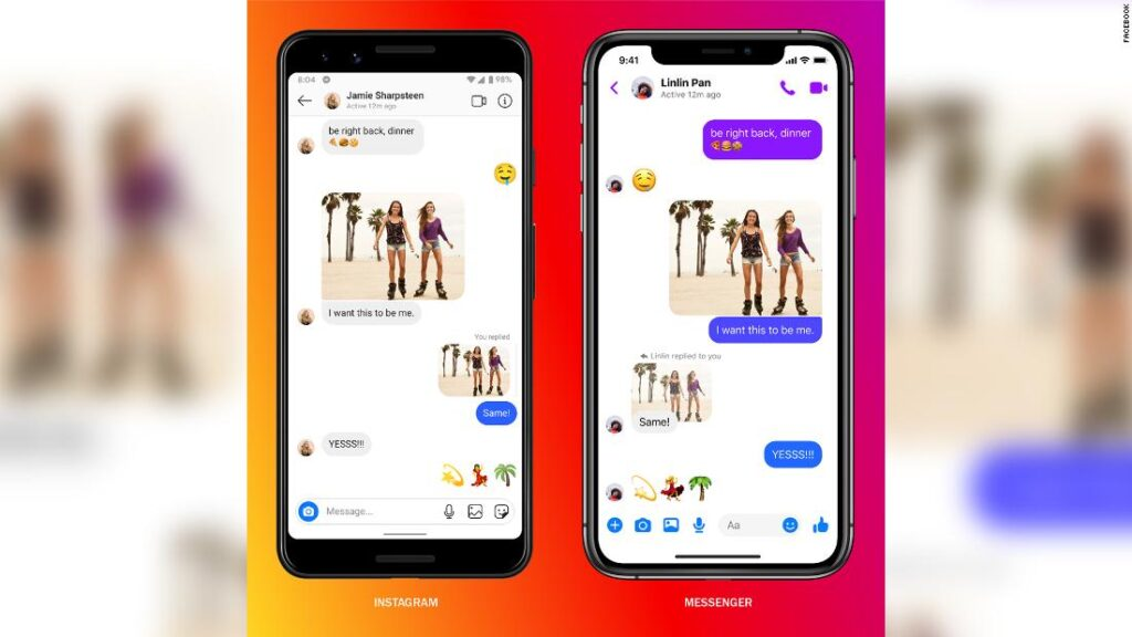 Facebook takes a big step in linking Instagram Messenger and 1024x576 1