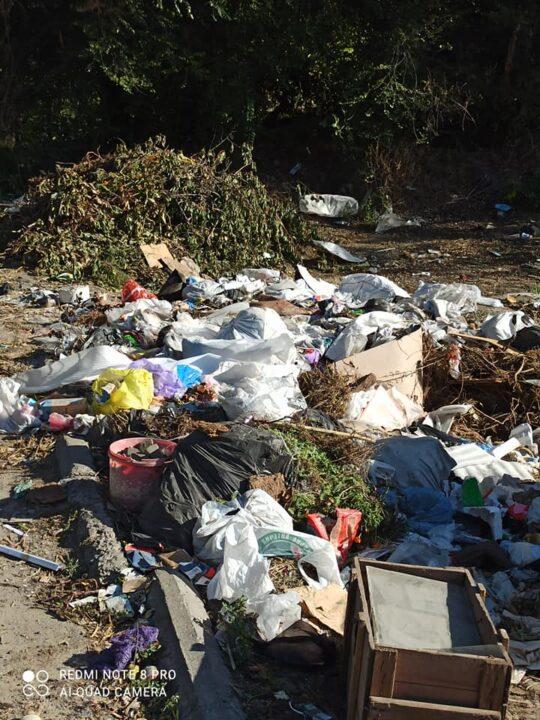 В Днепре в одном из поселков образовалась мусорная свалка
