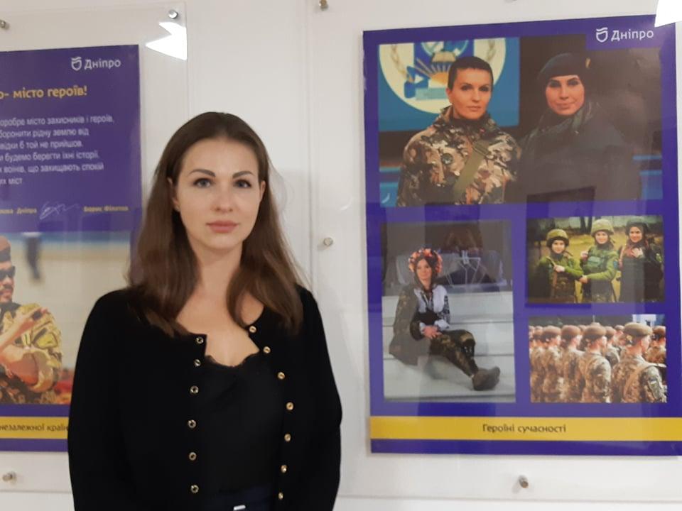 В Днепре ко Дню защитника Украины открылась фотовыставка «Сильный город независимой страны» (ФОТО)