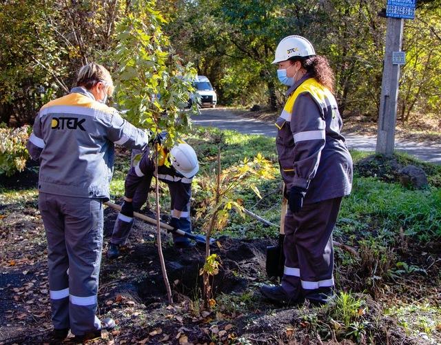 Озеленение-2020: промышленные гиганты высаживают деревья в Днепре