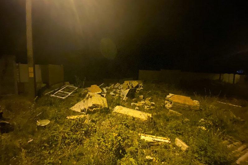В Днепре по неизвестным причинам обрушился частный дом