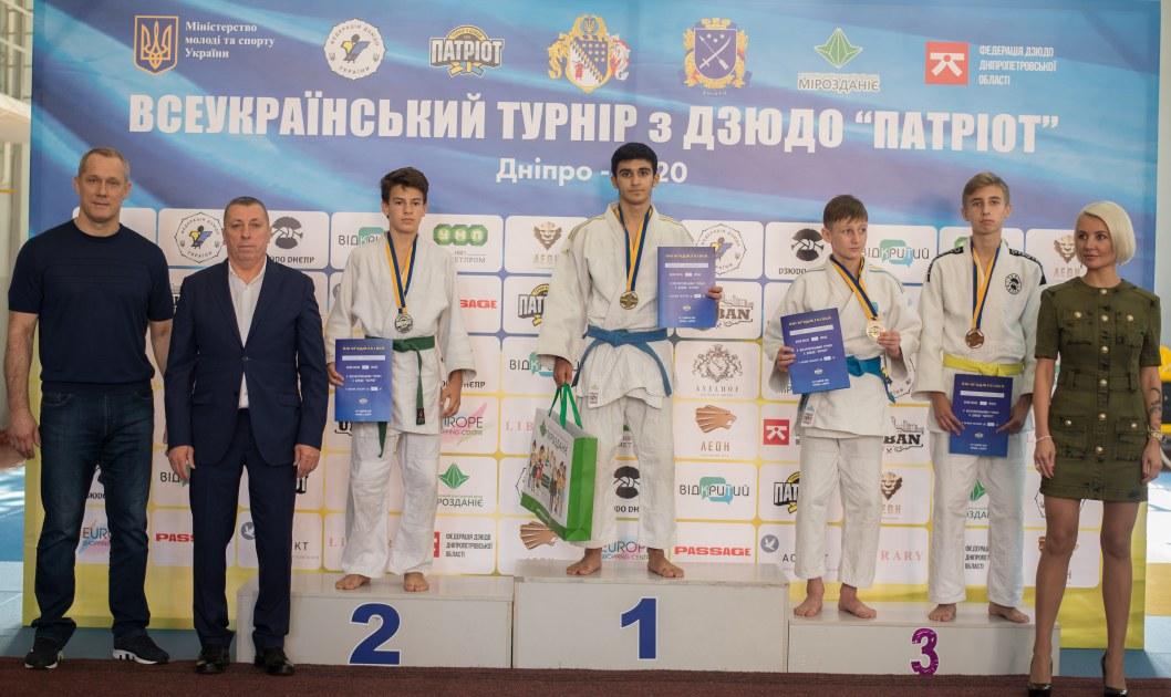 В Днепре прошел Всеукраинский юношеский турнир по дзюдо «Патриот»