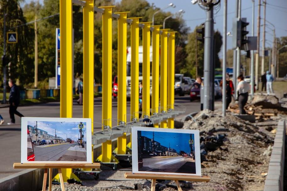 В Днепре на перекрестке Донецкого шоссе и улицы Шолохова строят трамвайные платформы