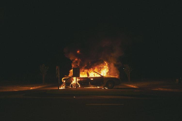 Загорелась на ходу: под Днепром пылала машина