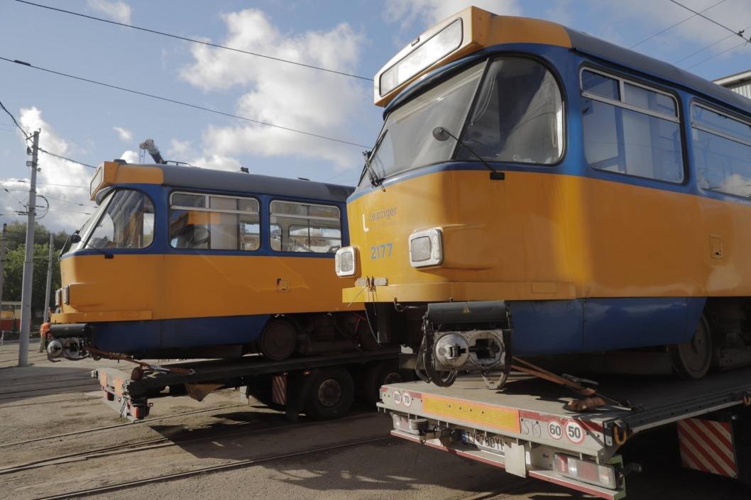 В Днепр доставили последнюю партию трамваев из Германии