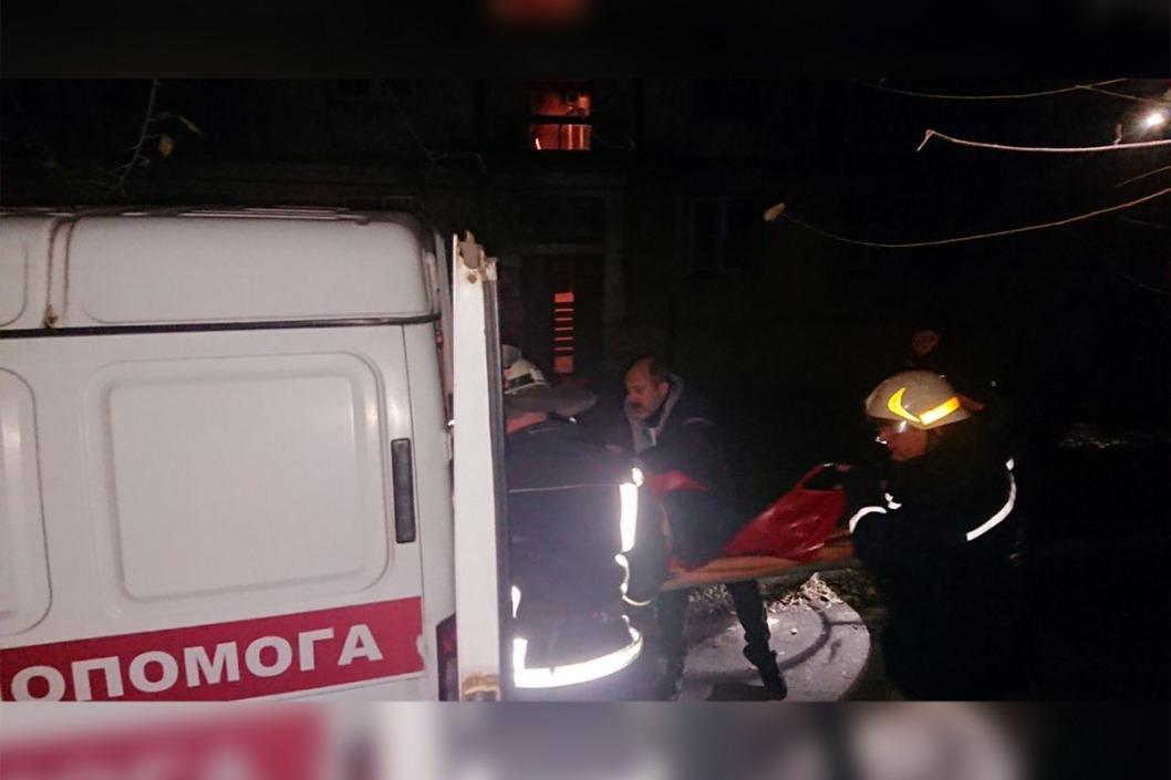 Ночью в Каменском горела пятиэтажка