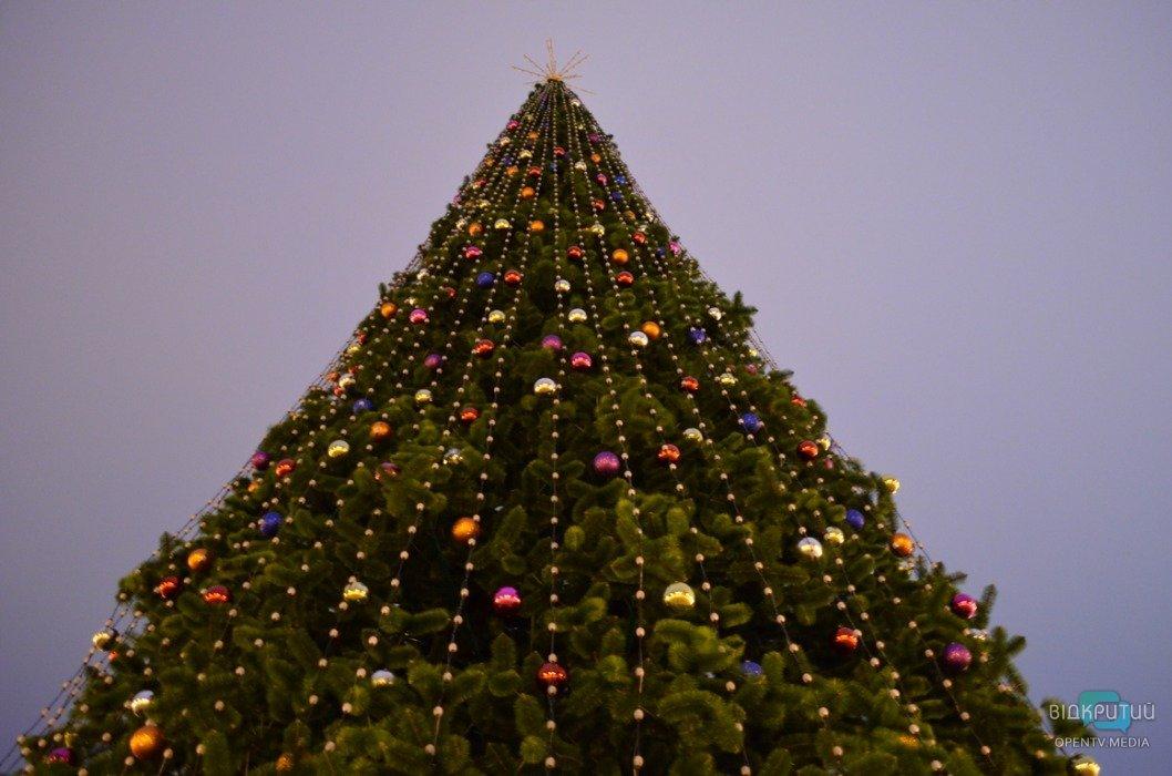 Сотни цветных шаров: в парке Глобы украсили 18-метровую елку (ФОТО)