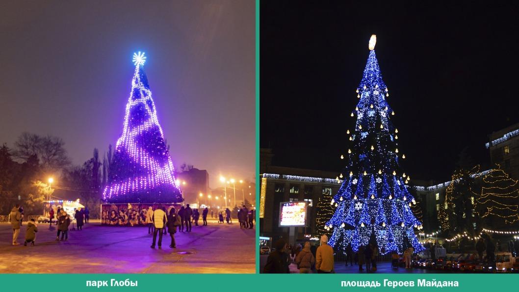 Битва ёлок: выбираем лучшую новогоднюю красавицу Днепра