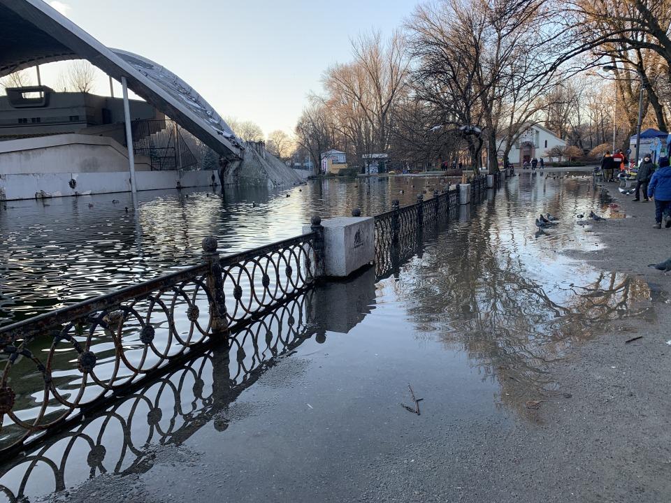 Потоп в парке Глобы: как обстоят дела сейчас