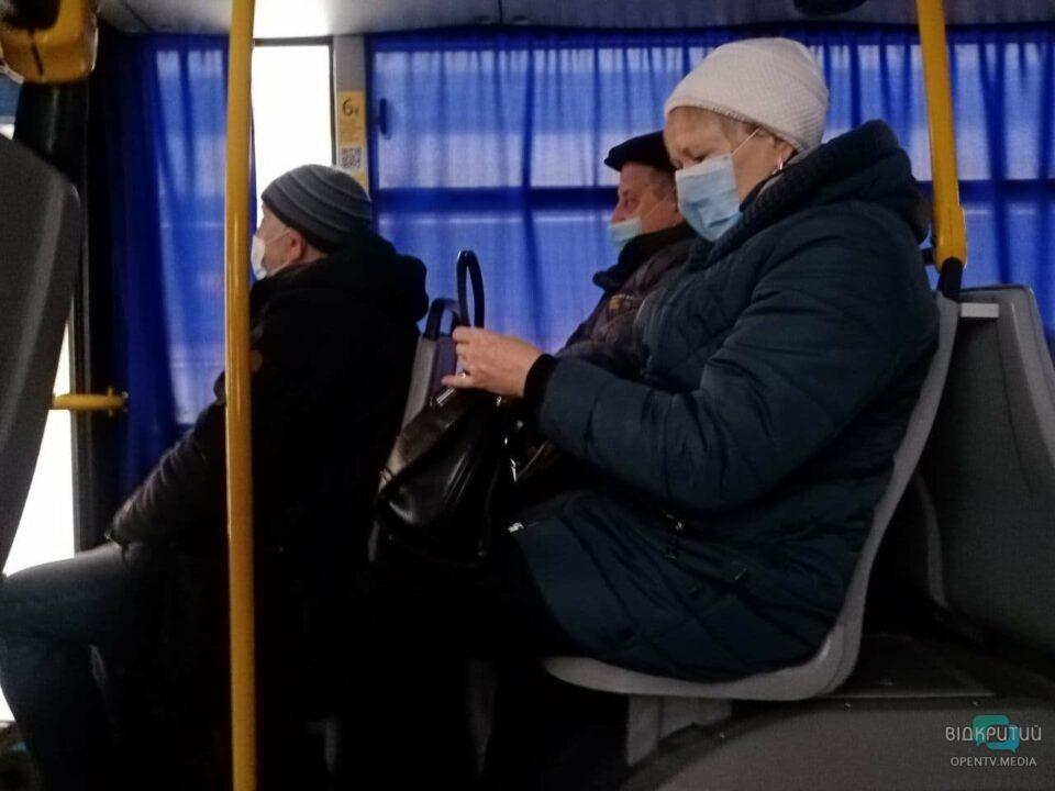 Как в Днепре работает общественный транспорт в первый день локдауна