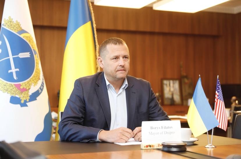 Мэр Днепра Борис Филатов и Кристина Квин обсудили перспективы местного самоуправления