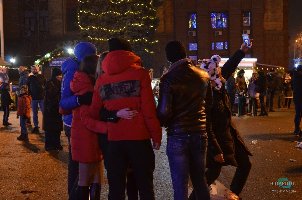 В центре Днепра с размахом отмечали Новый год (ФОТОРЕПОРТАЖ)