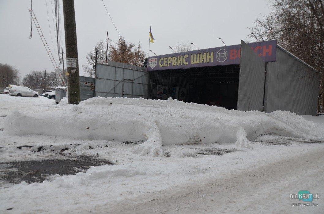В Днепре слепили 4-метрового снежного крокодила (ФОТО)