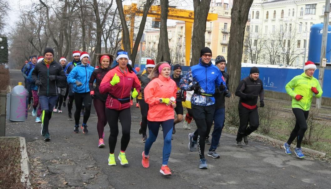 Спортивное начало года: в Днепре 1 января состоялась массовая пробежка