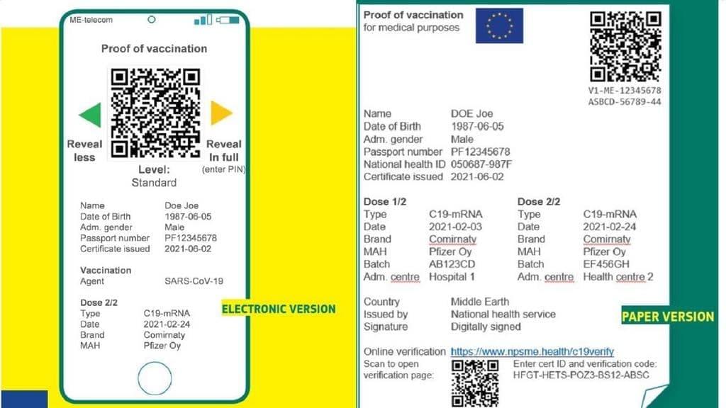 Kovid pasporta ES
