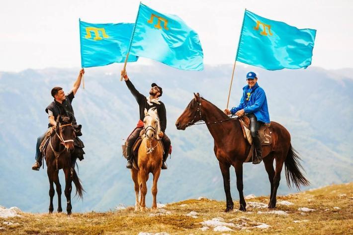 Flag krymskih tatar